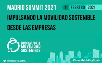 Inscríbete: 'Madrid Summit 2021: Impulsando la movilidad sostenible desde las empresas'