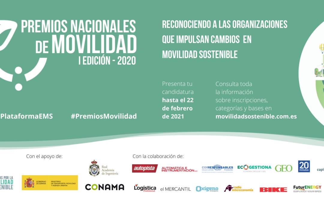 ¡Presenta tu candidatura a los Premios Nacionales de Movilidad!