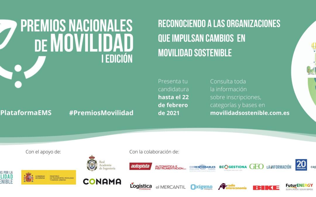 Premios Nacionales de Movilidad: ¡Último mes para presentar candidaturas!