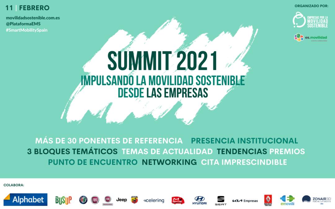 ¡Faltan 3 días! SUMMIT 2021: Impulsando la Movilidad Sostenible desde las Empresas