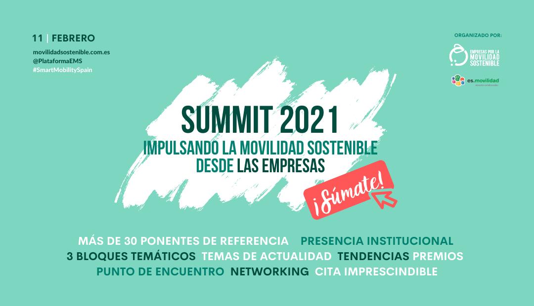 Descubre el programa completo del evento 'Impulsando la Movilidad Sostenible desde las Empresas: SUMMIT 2021'