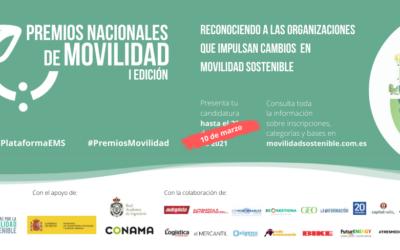 Premios Nacionales de Movilidad: ampliado el plazo para presentar candidaturas