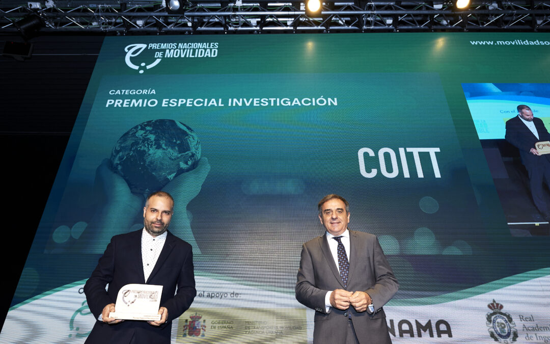 Conoce el proyecto del COITT galardonado con el Premio Nacional de Movilidad en la categoría 'Investigación'